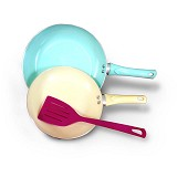OXONE 3Pcs Frypan Set Colorfull [OX-82] - Panci Set